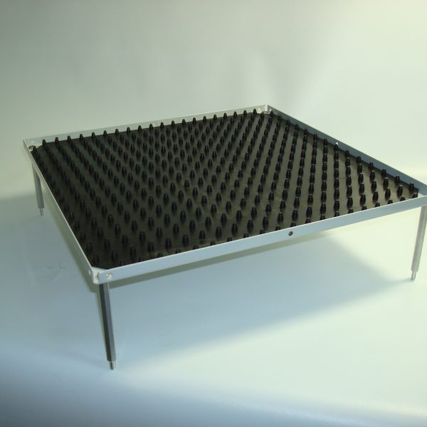 """Stacking platform, large 12""""x12"""" with dimpled mat (3.0"""" separation)-0"""