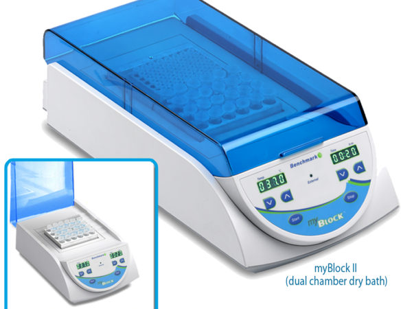 myBlock ll™- digital dry bath with 2 Quick-Flip blocks (BSWCMB) for tubes (0.2 to 2.0ml, PCR strips and PCR plates)-0