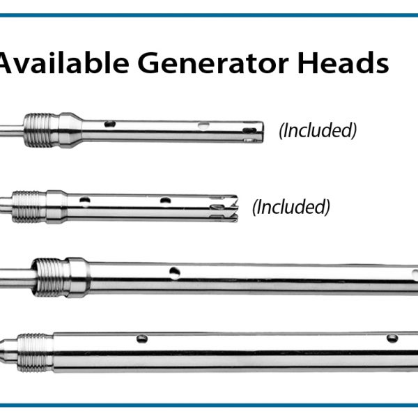 Optional generator, 10mm x 115mm saw tooth, for 15ml & 50ml tubes -0