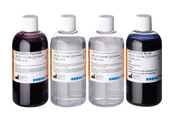 Acid Fast Staining Kit for Mycobacterium (ZN / Methylene Blue) (4 x 250.0ml)-0